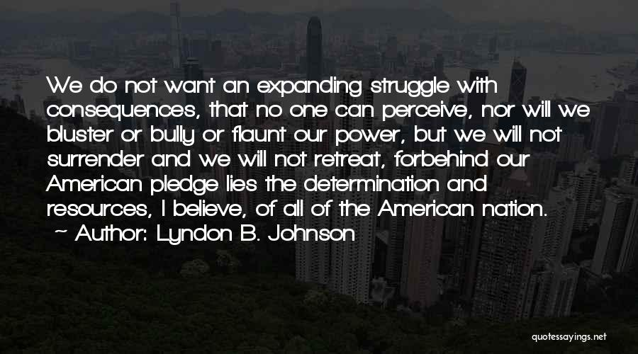 Bluster Quotes By Lyndon B. Johnson