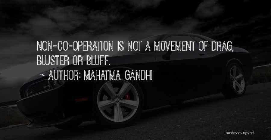 Bluster Quotes By Mahatma Gandhi