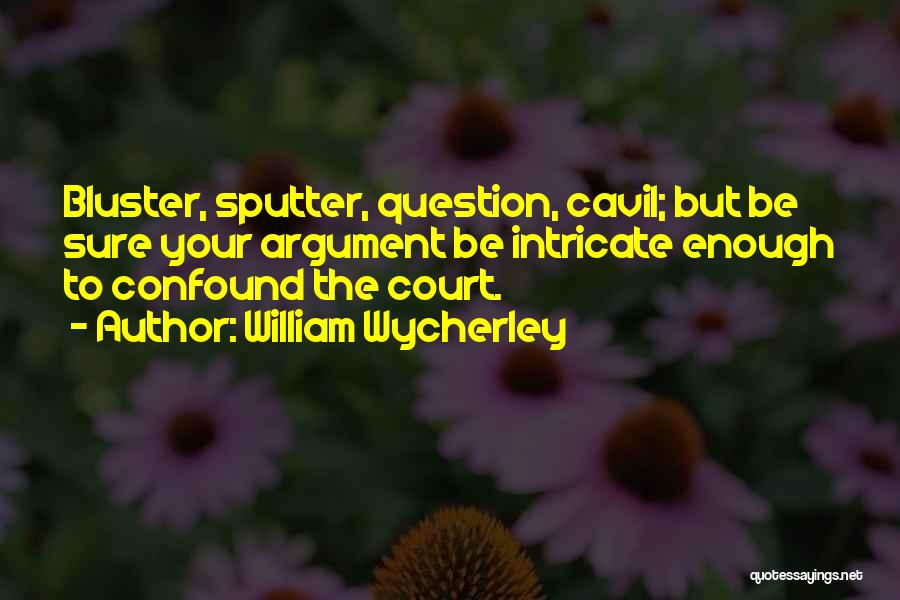 Bluster Quotes By William Wycherley