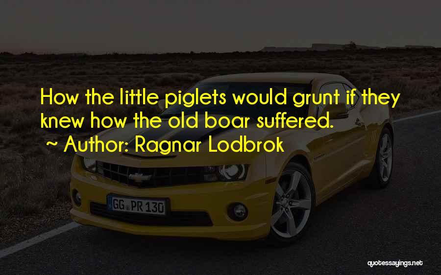 Boar Quotes By Ragnar Lodbrok
