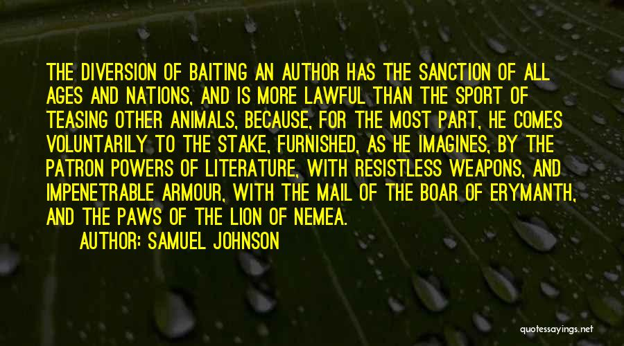 Boar Quotes By Samuel Johnson