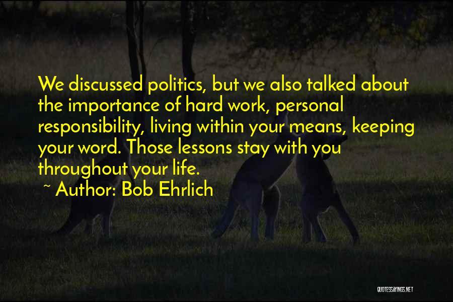 Bob Ehrlich Quotes 173645