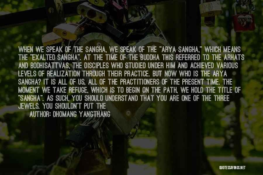 Bodhisattvas Quotes By Dhomang Yangthang