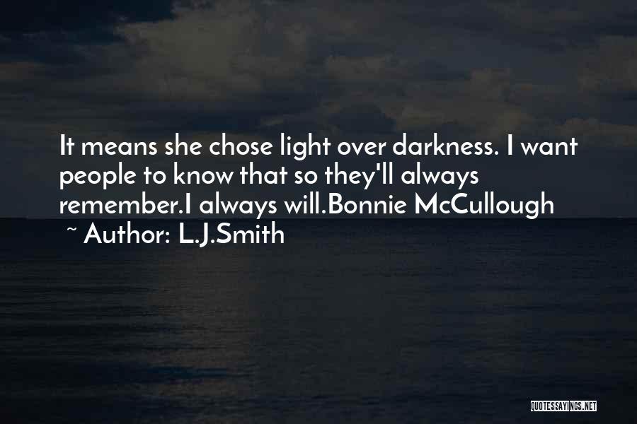 Bonnie Mccullough Quotes By L.J.Smith