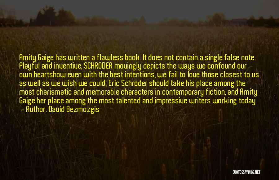 Book And Love Quotes By David Bezmozgis