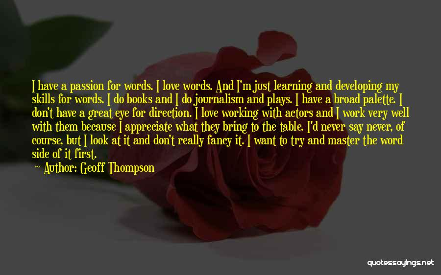 Book And Love Quotes By Geoff Thompson