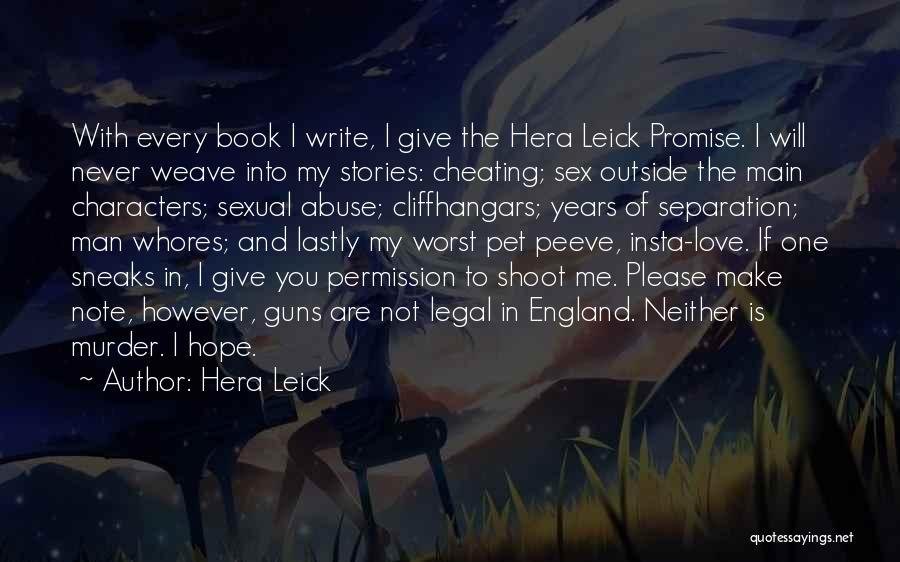 Book And Love Quotes By Hera Leick