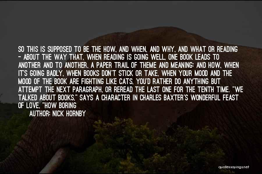 Book And Love Quotes By Nick Hornby