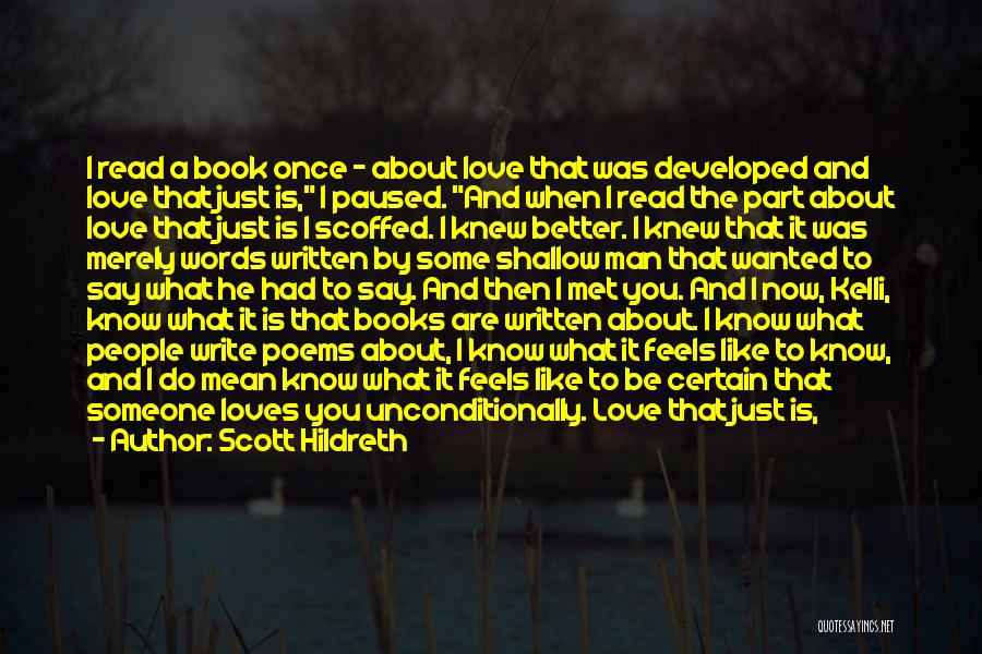 Book And Love Quotes By Scott Hildreth
