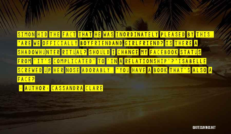 Book Boyfriend Quotes By Cassandra Clare