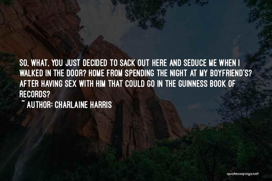 Book Boyfriend Quotes By Charlaine Harris
