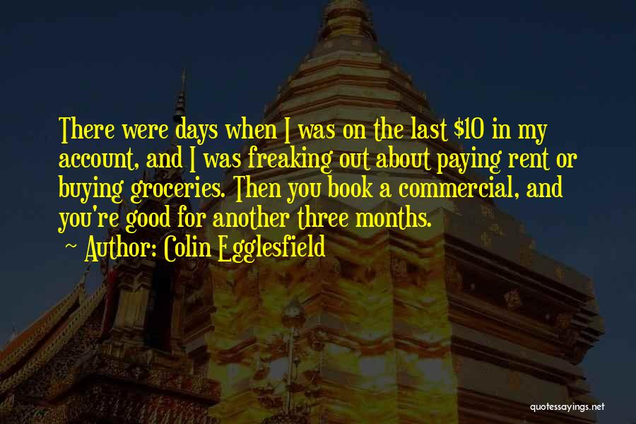 Book Buying Quotes By Colin Egglesfield