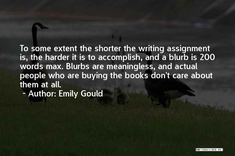 Book Buying Quotes By Emily Gould