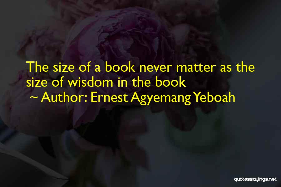 Book Buying Quotes By Ernest Agyemang Yeboah