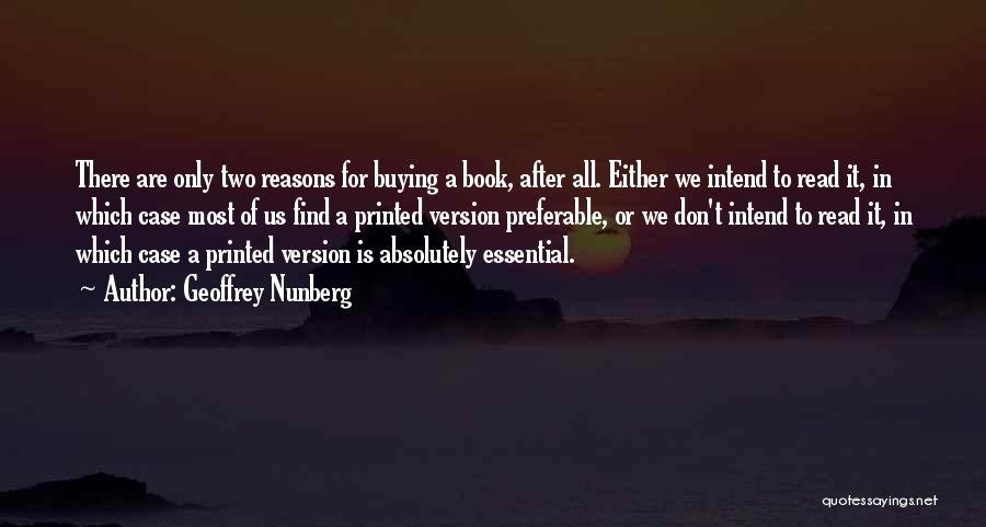Book Buying Quotes By Geoffrey Nunberg