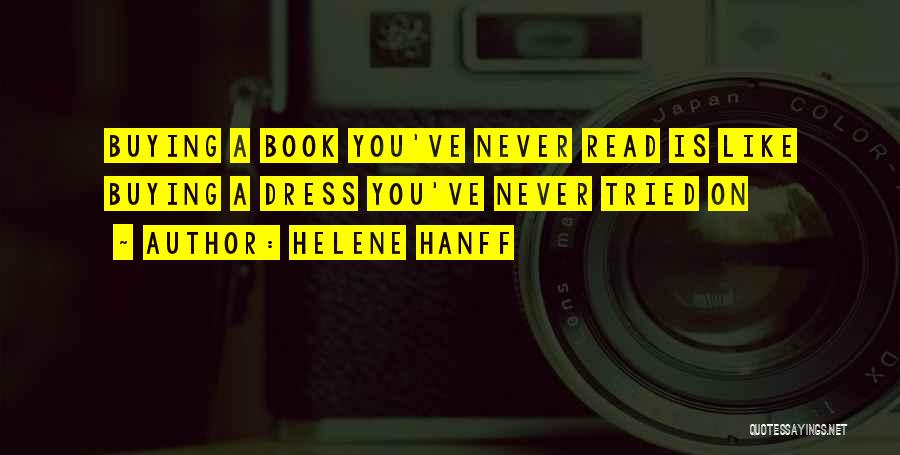 Book Buying Quotes By Helene Hanff
