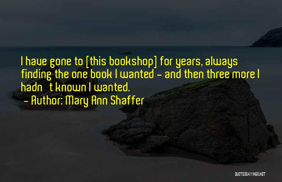 Book Buying Quotes By Mary Ann Shaffer