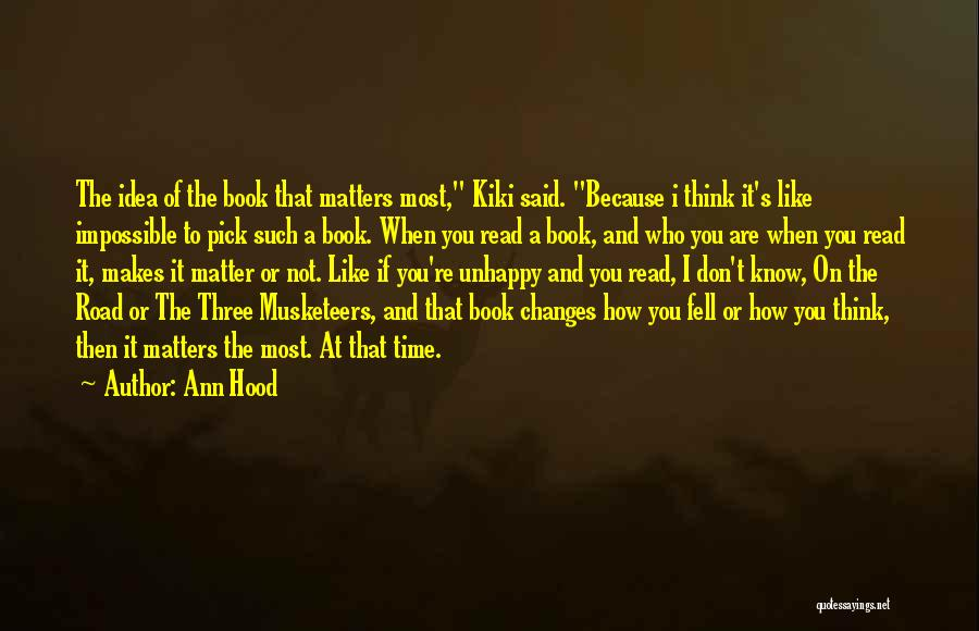 Book On The Road Quotes By Ann Hood