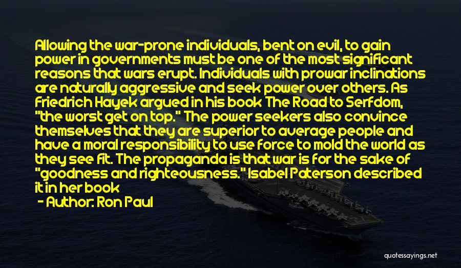Book On The Road Quotes By Ron Paul