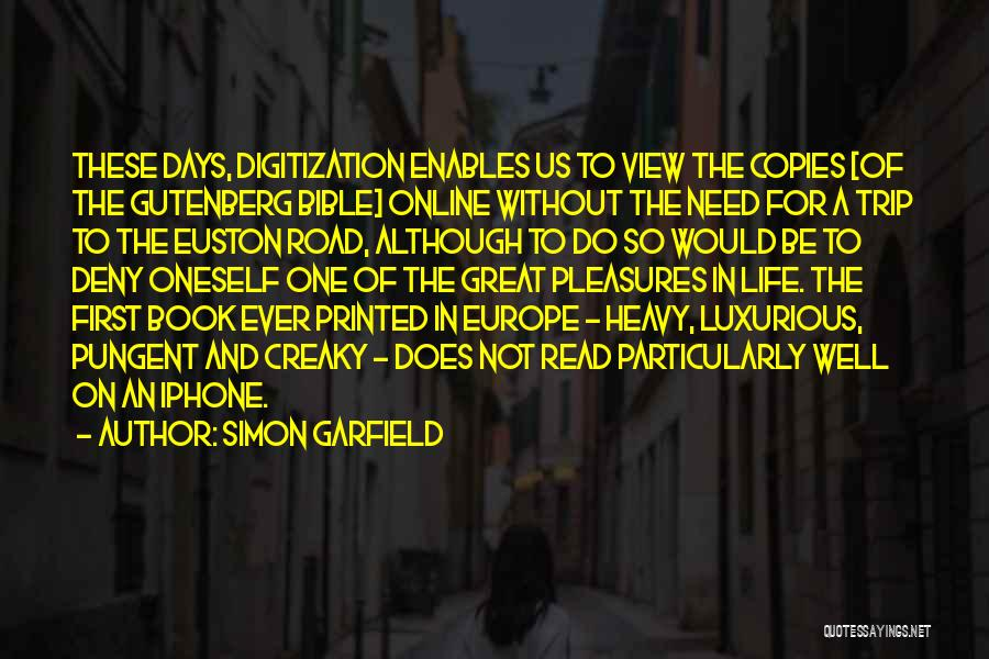 Book On The Road Quotes By Simon Garfield