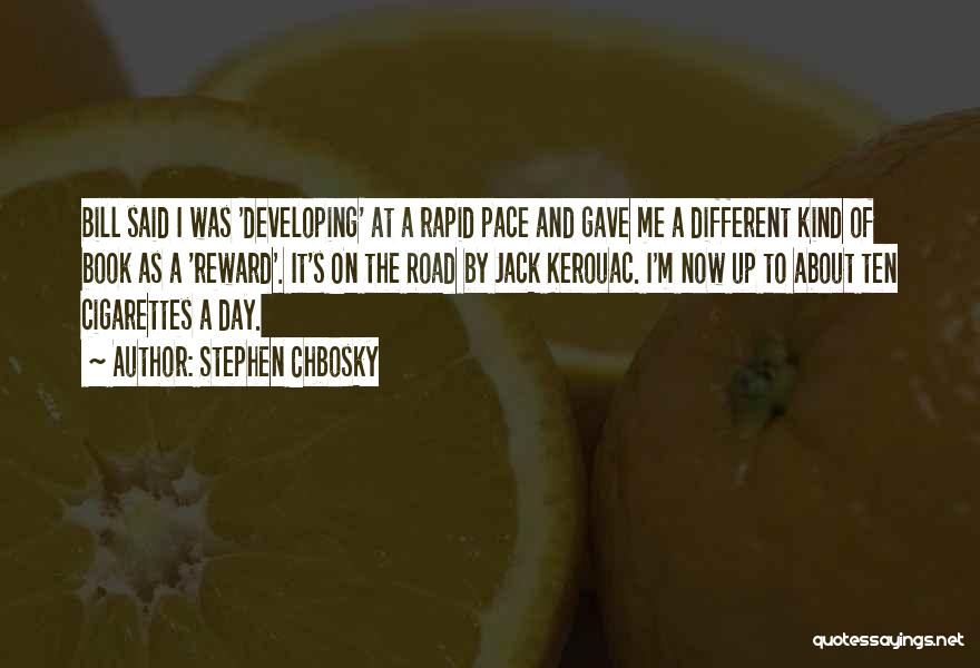 Book On The Road Quotes By Stephen Chbosky