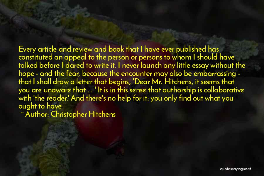 Book Publication Quotes By Christopher Hitchens