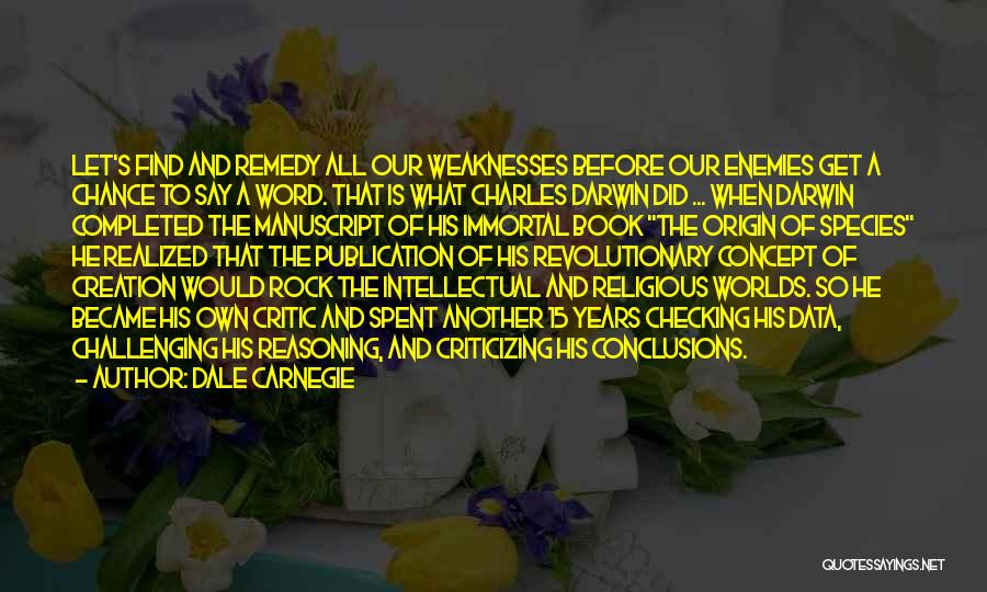 Book Publication Quotes By Dale Carnegie