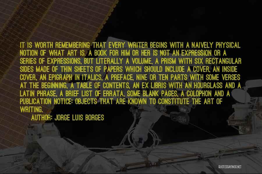 Book Publication Quotes By Jorge Luis Borges