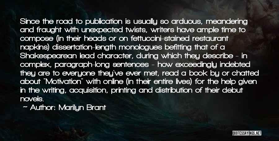 Book Publication Quotes By Marilyn Brant