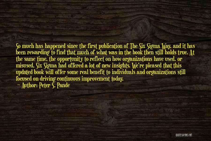 Book Publication Quotes By Peter S. Pande