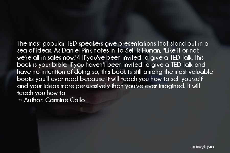 Book Sales Quotes By Carmine Gallo
