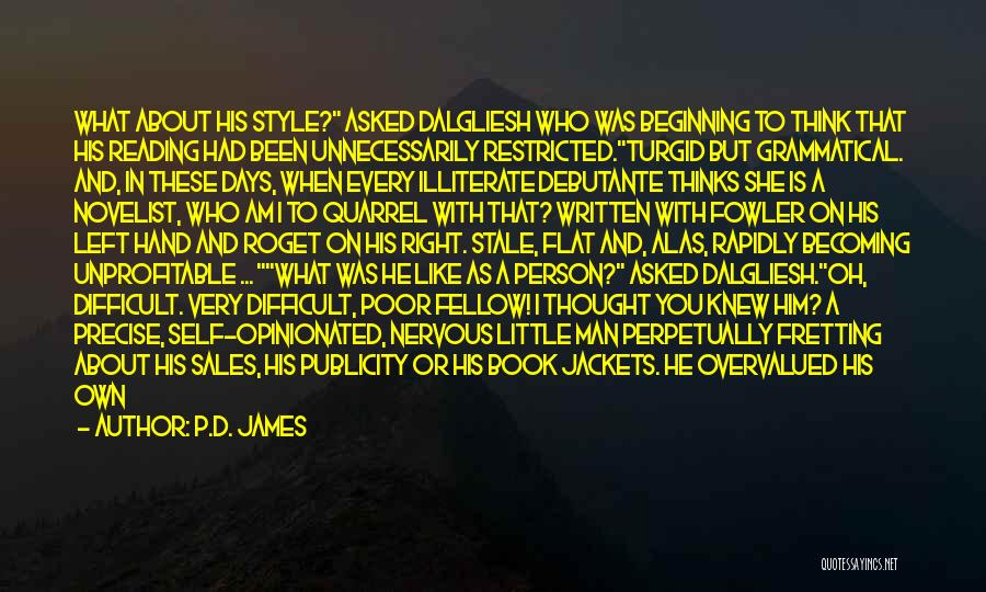 Book Sales Quotes By P.D. James