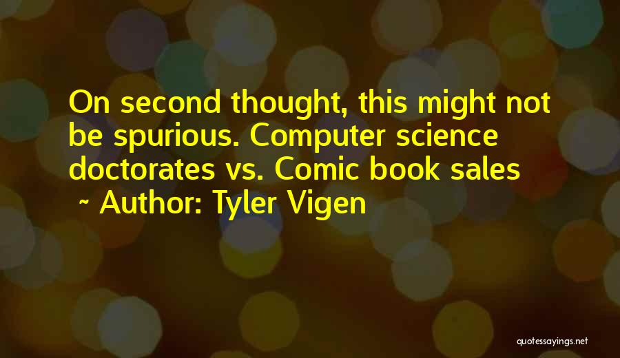 Book Sales Quotes By Tyler Vigen