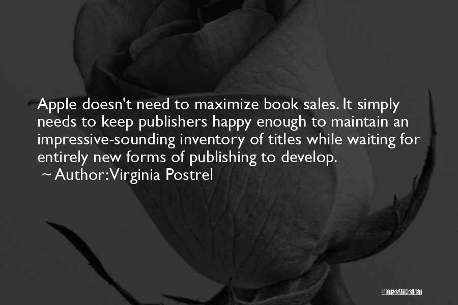 Book Sales Quotes By Virginia Postrel