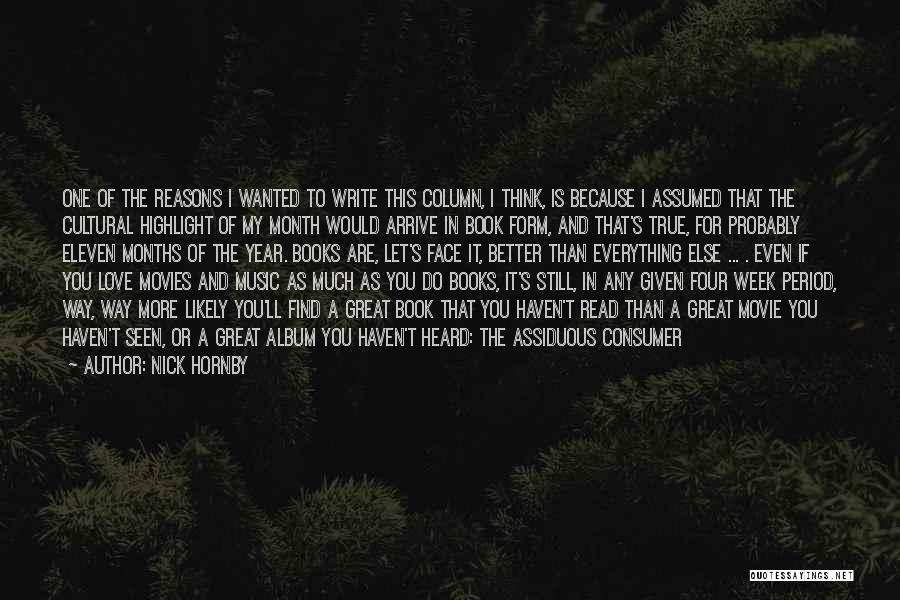 Books And Movies Quotes By Nick Hornby