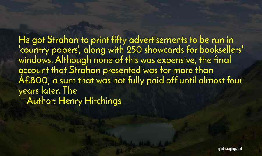 Booksellers Quotes By Henry Hitchings