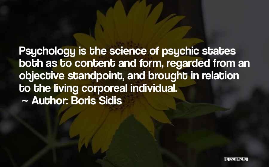 Boris Sidis Quotes 1005481