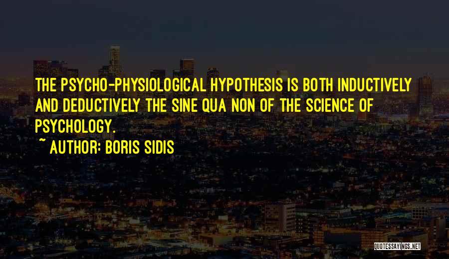 Boris Sidis Quotes 271082