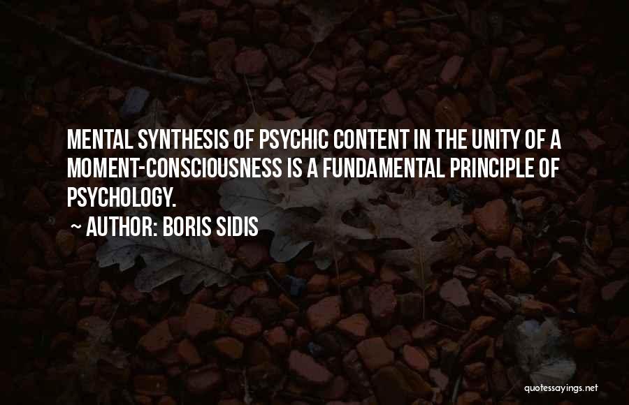 Boris Sidis Quotes 343301