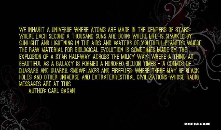 Born For Each Other Quotes By Carl Sagan