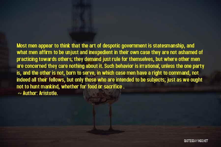 Born To Rule Quotes By Aristotle.