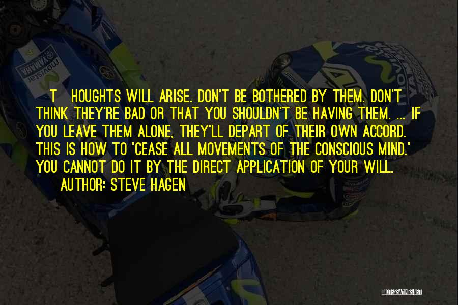 Bothered Mind Quotes By Steve Hagen