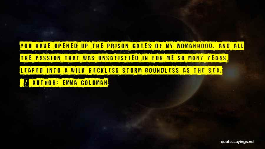 Boundless Sea Quotes By Emma Goldman