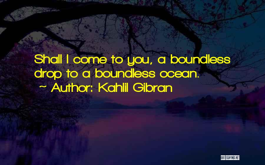 Boundless Sea Quotes By Kahlil Gibran