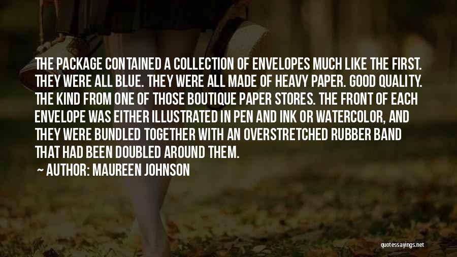 Boutique Quotes By Maureen Johnson
