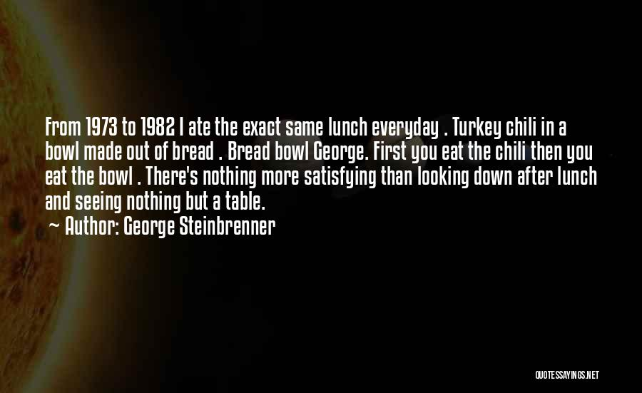 Bowl Of Chili Quotes By George Steinbrenner
