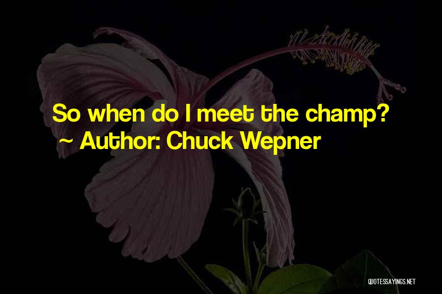Boxing Champ Quotes By Chuck Wepner