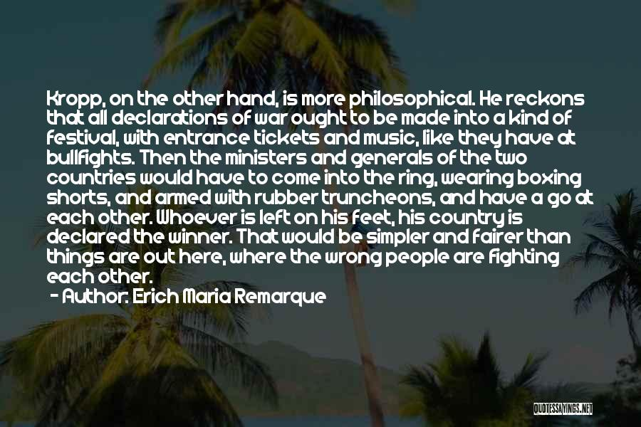 Boxing Fighting Quotes By Erich Maria Remarque