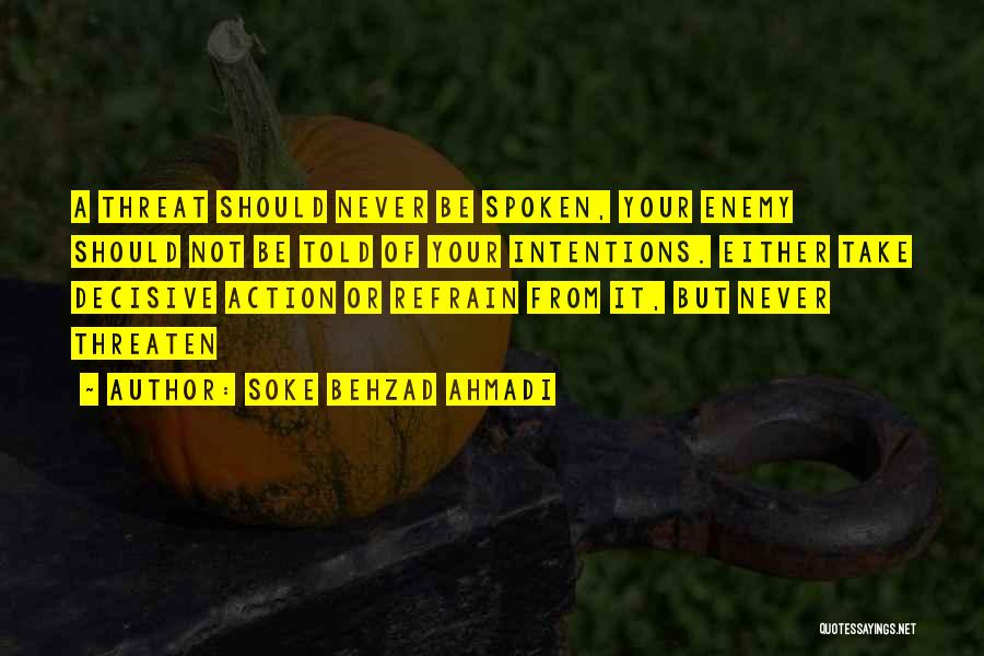 Boxing Fighting Quotes By Soke Behzad Ahmadi