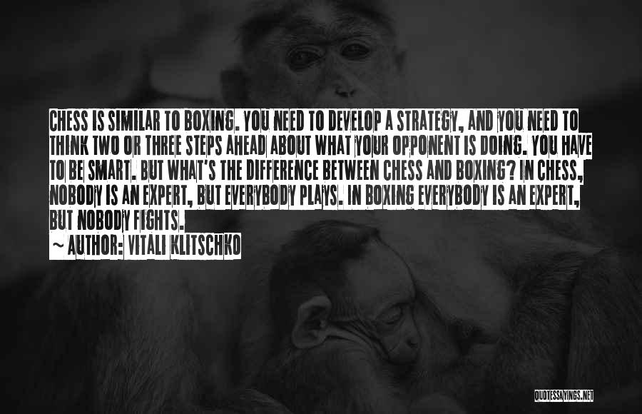 Boxing Fighting Quotes By Vitali Klitschko